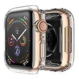 Fintie Hülle kompatibel mit Apple Watch 44mm Series 5 / Series 4 - [2 Stück] Ultra-Dünn Leichte Hochwertige Polycarbonat Harte Schutz Gehaüse Abdeckung, Transparent *2
