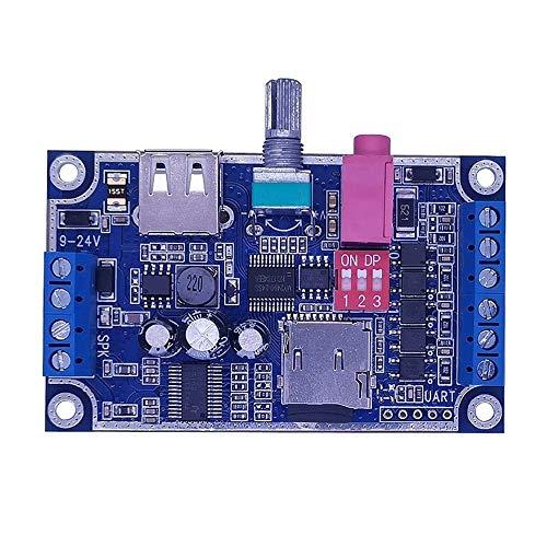 Soundmodul,Programmierbare WAV MP3 Music Voice Player-Karte 10 W Sound Player DC 12 V-24 V Unterstützung TF-Karte U-Disk