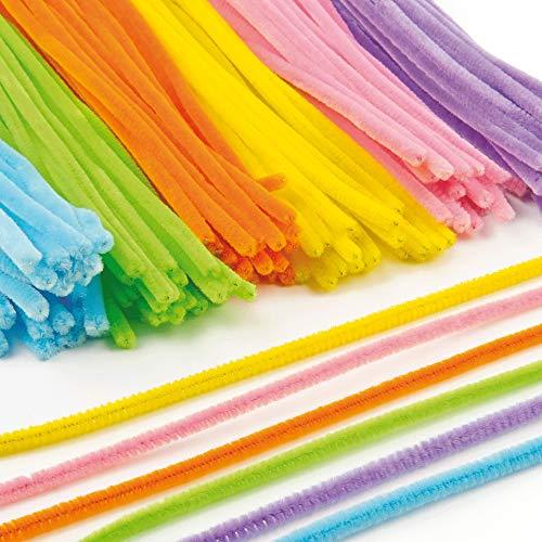 Baker Ross Pack Ahorro de Limpiapipas de 30 cm en 6 Colores Variados Perfectas para Crear Modelos y Decorar Otras Manualidades Infantiles (Pack de 120)