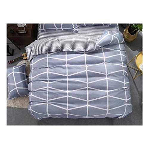 1PCS Bettbezug 220 * 240 Bedding Quilt-Decke Tröster Abdeckung Druck Einzel Doppel Customized 140 * 200cm Nordic (Color : Colour 09, Size : 155x215cm)