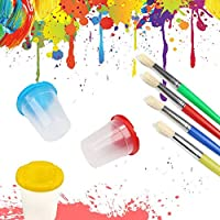 Pennelli in Spugna E Tazze Di Vernice, Set Di Strumenti Per Pittura Per Bambini Con Grembiule, Set Di Pittura Per Bambini Per Apprendimento Precoce Di Arte E Artigianato Per Bambini (56 Pezzi) #5