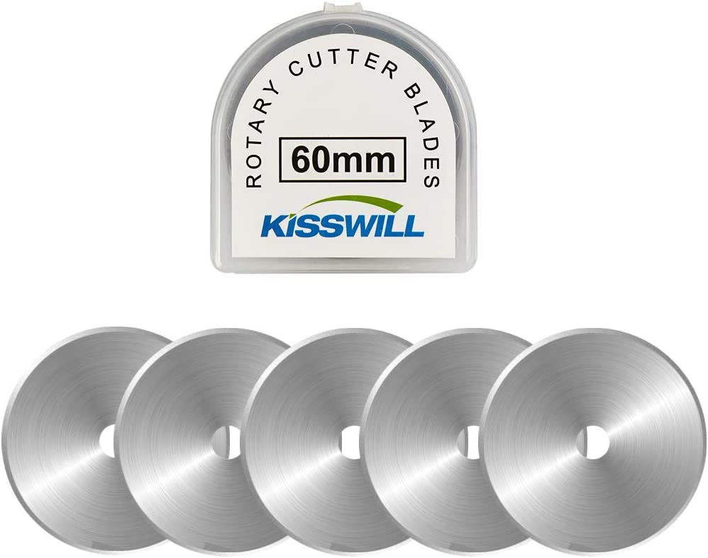 KISSWILL Rotary Cutter Blades 60mm 5 Pack Sales of SALE items Bargain from new works Refill -