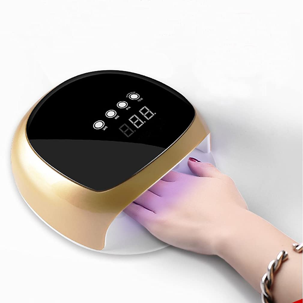 マンハッタンバンクガード美容院UVネイルランプLED 52Wネイルドライヤー4タイマー(30秒/ 60秒/ 90秒/ 120秒)乾燥ネイルポリッシュ&ネイルアート