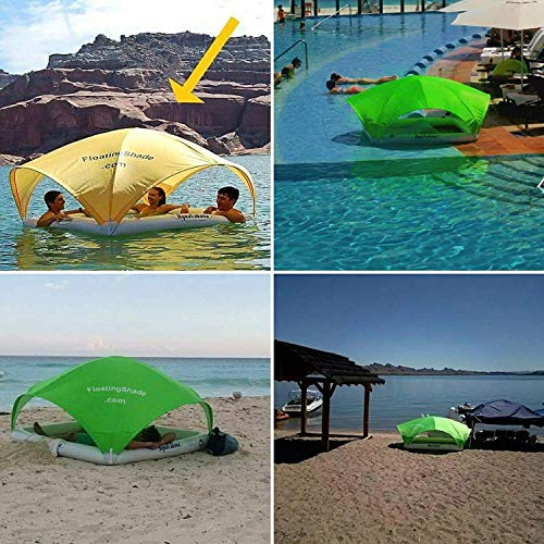 small Aqua Cabana is the only floating all-day cabin / pool, beach, lake and river all-round shading in the world