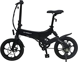 Coolautoparts Bicicleta Eléctrica Plegable 250W 16 Pulgadas para Hombres Mujeres/Bicicleta de Montaña/e-Bike 36V Batería d...