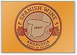 Aimant de réfrigérateur classique avec vin espagnol, Andalousie