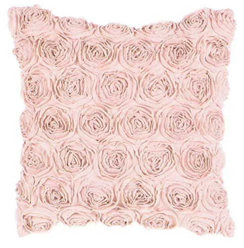 Blanc Mariclo Cojín cuadrado de decoración Deco Rose con flores, 60 x 60 cm, A2855099RO