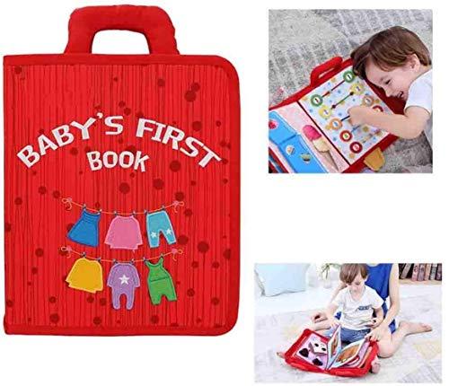 hsj Quiet Livre Kids First Livre Parent-Enfant Communication sensorielle Livre, déterminer Les compétences des garçons et des Filles Enfants de Noël Exécution exquise