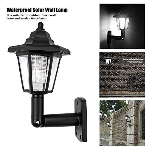 ZZKK 2 stuks LED wandlampen voor tuin met zeskant zonnelamp koud wit ON Auto voor buitenverlichting