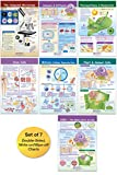 """NewPath Learning Cells Bulletin Board Charts: 7 Double-Sided, Laminated Science Charts Cover Compound Microscope; Cells; Mitosis; Osmosis & Diffusion; Comparing Plants & Animals; Photosynthesis & Respiration; Stem Cells – Feature Reference Information & """"Write-On, Wipe-Off"""" Activities for Use in the Classroom, At-Home Study, Home Schools"""