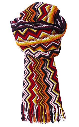 Missoni Stola Fantasie sjaal Made in Italy dames 190 x 40 cm oranje MDD6795-0003