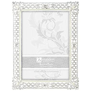 Malden International Designs Clio Silver Metal Picture Frame, 5x7, Silver