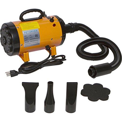PawBest 2 Speed Adjustable Heat Pet Grooming Force Hair Dryer (Yellow)