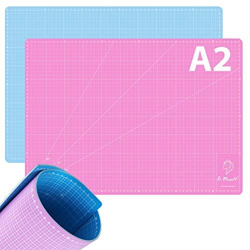 La Manuli Tappetino Da Taglio Autoguarigione A2 (60x45 cm) 5 Strati Cutting mat Per Patchwork, Cucito e Artigianato, Sottomano per scrivania, Base per tavolo da lavoro - Centimetri