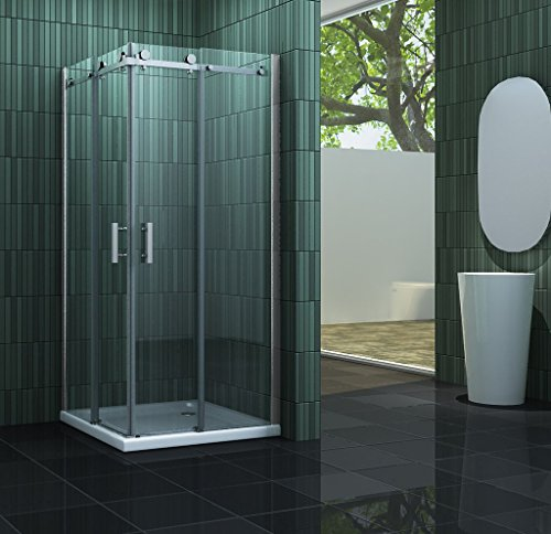 Duschkabine TECHNO 90 x 90 x 195 cm ohne Duschtasse