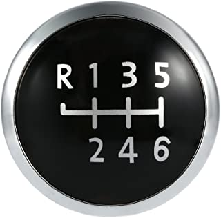 Sangmei Emblema do emblema do botão da engrenagem de 6 velocidades Tampa do botão da tampa compatível com VW T5 Transporte...