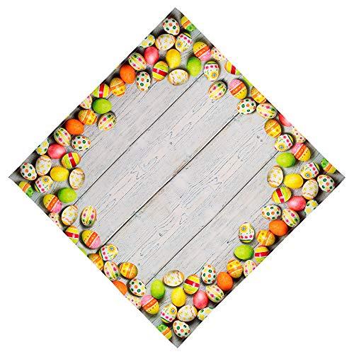 Tischdecken OSTERN Pflegeleichte Eier Holzdielen Decke Osterdecke Ostertischdecke (Mitteldecke 85 x 85 cm)