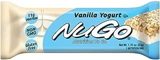 NuGo Protein Bar,Vanilla Yogurt, 11g Protein, 170 Calories, Gluten Free, 15 Count