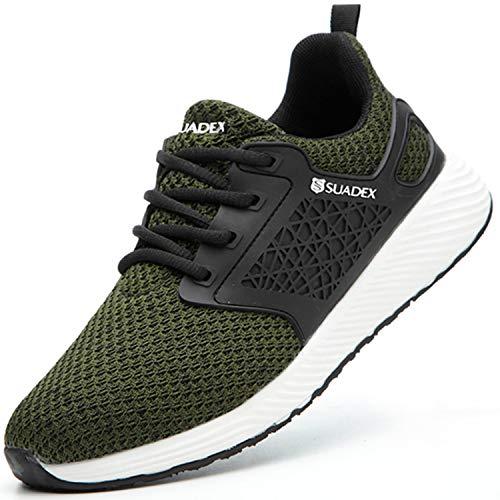 BAOLESME Herren Sportschuhe Atmungsaktiv Gym Laufschuhe Leichtgewicht Turnschuhe Freizeit Outdoor Sneaker, 04 Grün, 43 EU