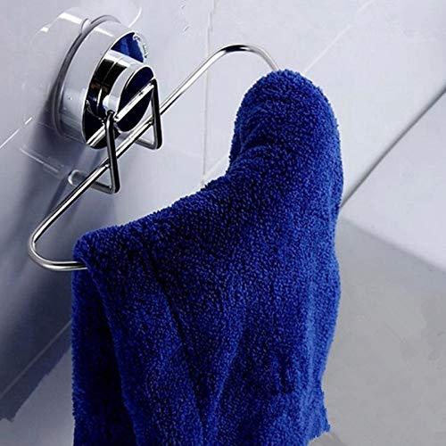 anruo 1 St Zuignap Handdoekenrek Badkamer Roestvrijstalen Ring Handdoekenrek Keuken Toiletplank met Handdoeken Bar Handdoekhouder