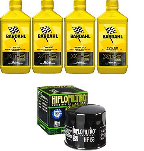 Tecneco Kit 4 litres Bardahl XTS C60 10 W50 + Filtre à huile HIFLO Ducati
