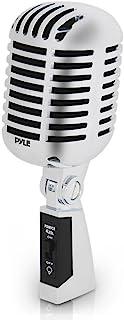 میکروفن آوازی کلاسیک یکپارچهسازی با سیستمعامل دینامیک - میکروفن قلب یکطرفه قدیمی با کابل XLR - سازگار با استاندارد جهانی - عملکرد زنده در استودیو ضبط - Pyle Pro PDMICR42SL (نقره ای)
