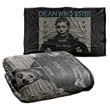 Supernatural Dean Mug Shot Silky Touch Super Soft Throw Blanket 36' x 58'