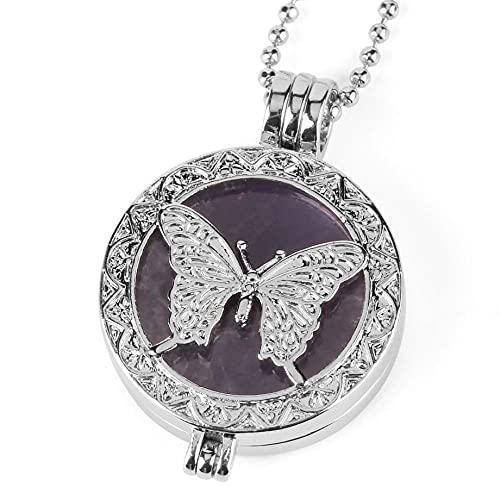 Collares con Colgantes De Piedra para Mujer,Piedras Collares De Mujeres Semipreciosas Naturales...