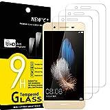 NEW'C 3 Unidades, Protector de Pantalla para Huawei Enjoy 5S, Antiarañazos, Antihuellas, Sin Burbujas, Dureza 9H, 0.33 mm Ultra Transparente, Vidrio Templado Ultra Resistente