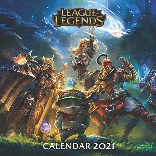 League of Legends Calendar 2021: League of Legends wall calendar 2021 with 16 Months & Posts