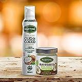 Olio di Cocco Spray 200 ml + Olio di Cocco Biologico 200 ml - Coconut Oil Spray 200 ml + ORGANIC Coconut Oil in a 200 ml JAR