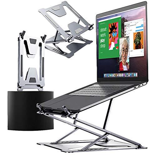 DSMGLRBGZ Soporte Monitor, Laptop Stand Soporte Laptop Doble Regulación Estabilidad Pliegue Disipación De Calor Antideslizante para Aliviar El Dolor Postura Saludable Juego,B