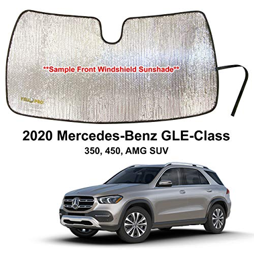 YelloPro Custom Fit Automotive Reflective Front Windshield Sunshade Accessories UV Reflector for 2020 Mercedes Benz GLE Class 350, 450 AMG SUV