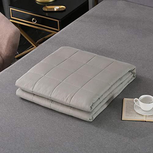 N / A Weighted Blanket for Adults,Mantas contra la ansiedad Manta calmante de la Terapia sensorial para un Mejor sueño y Alivio del estrés, 104% algodón,3,152 * 203cm 5.4kg
