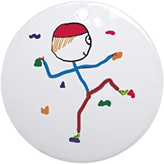 CafePress Indoor Climbing Round Holiday Christmas Ornament