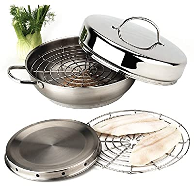 Demeyere Resto 4-pc Stainless Steel Stovetop Smoker Set