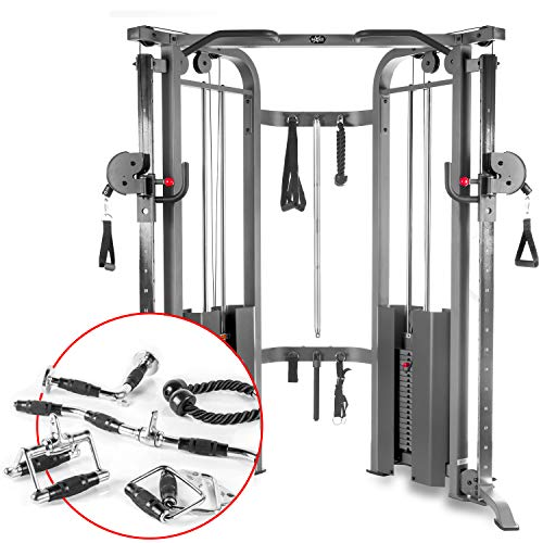 Best Deals! XMark Functional Trainer Cable Machine with Dual 200 lb Weight Stacks, 19 Adjustments, a...