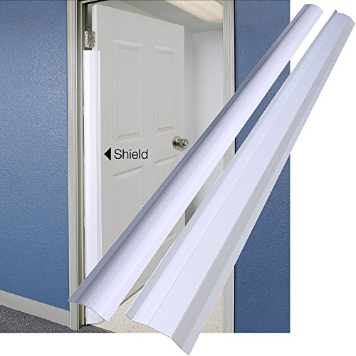 PinchNot Home Shield for 90 Degree Doors (Set) - Guard for Door Finger Child Safety. by Carlsbad Safety Products