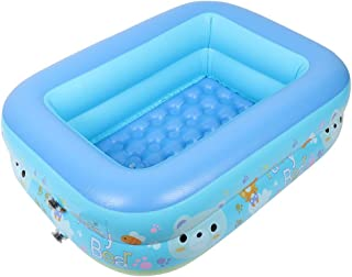 Kids Inflatable Square Thick Baby Bath Summer Cartoon Outdoor Swimming Pool Family Water Play Pool AXCDE