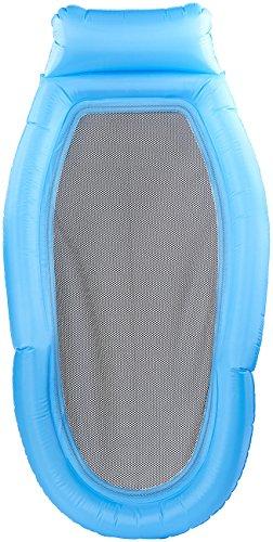 infactory Wasserhängematten: Wasser-Hängematte mit Netz-Liegefläche & Transport-Tasche, 178 x 94 cm (Wasserhängematte mit Netz)