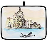 Estera de secado de platos para cocina Italia Catedral de Venecia...