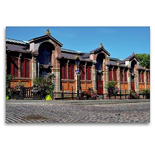 CALVENDO Premium Textil-Leinwand 120 x 80 cm Quer-Format Covered Markt von Colmar, Leinwanddruck von Ulrike Kröll