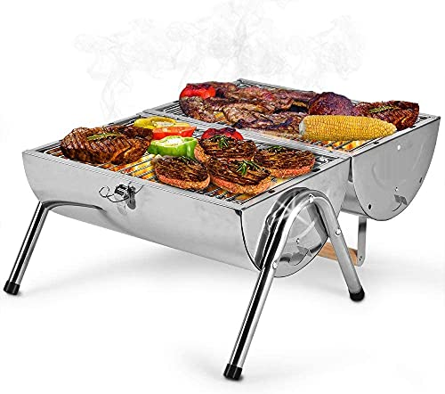 NIGMA BBQ Barbecue Outdoor Garden Charcoal Barbeque Patio Party Camping Cooking Small/Medium/Large (Portable Barrel BBQ)
