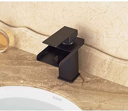 Grifo del fregadero Grifo estilo tradicional cascada de bronce engrasado Grifo monomando para lavabo Grifo monomando montado en cubierta