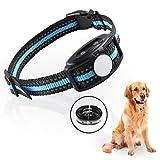 ANRIS Collar Antiladridos Ajustable con Entrenamiento de Doble Vibración y Pitido, Collar Electrico Recargable Collar Adiestramiento Frena Ladridos para Perros