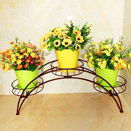 KSNCQJ Steht Blume Schmiedeeisen Gewölbte, Europäischen Innenhof Pot Ständer, Freistehend Metall 3 Topfpflanze Steht, Nicht Einfach Zu Deformieren (Farbe: Weiß) Pflanzenbestand (Size : #2)