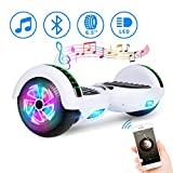 Spadger Hoverboard, 6.5' Self-Balancing Scooter with Bluetooth Hover Board for Kids Adult(White)