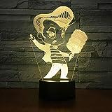 3D-Illusionslicht Led Nachtlicht Karaoke Singen Bunte Blinkende Lichter Usb-Touch-Tischlampe Hauptschlafzimmerdekoration Kindergeschenkspielzeug
