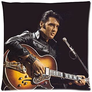 Singer Elvis Presley Pillowcase Pillow Case Cover 18x18 inch (twin sides)