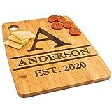 Custom Catch Personalized Cutting Board Wedding Gift - Durable Bamboo (Monogram)